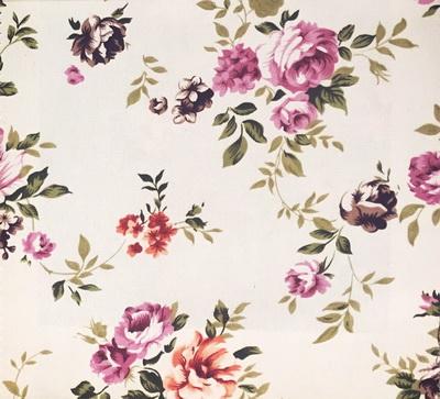 ผ้าพิมพ์ลาย แนววินเทจ ลายดอกไม้ สีสันนุ่มนวล สวยงาม ลวดลายคมชัด