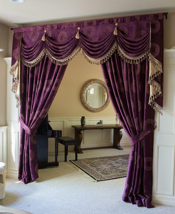 ผ้าม่าน สีม่วง โทนสีสวย สร้างบรรยากาศลึกลับ